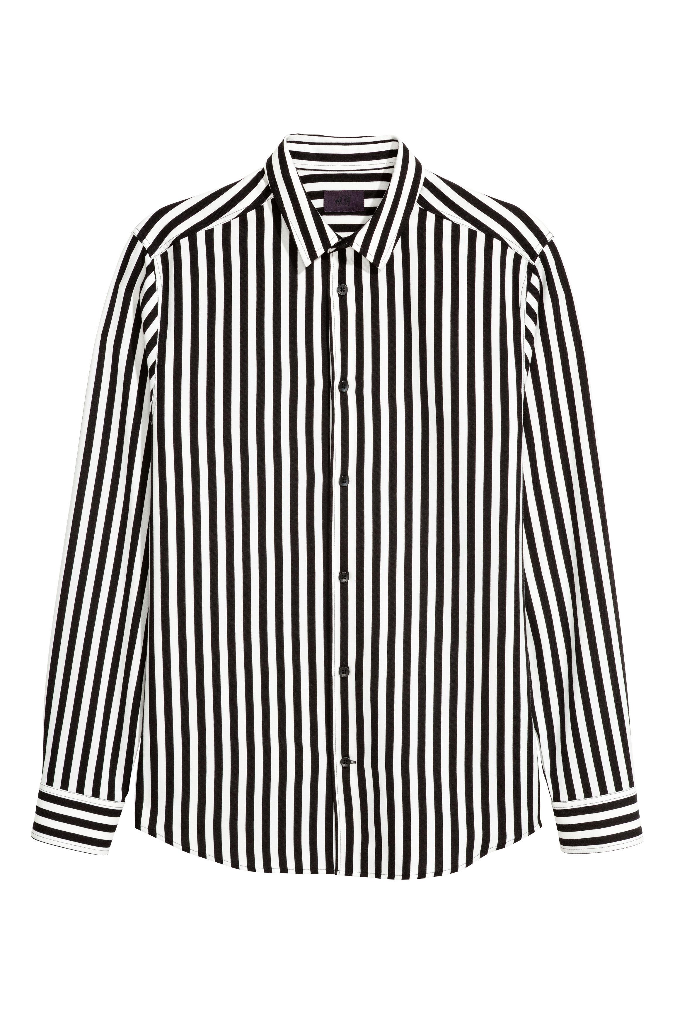 6fd7e260 Striped shirt - Black/White striped - Men | H&M GB