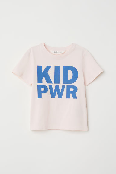 Printed T-shirt - Light pink/Kid Pwr - Kids | H&M