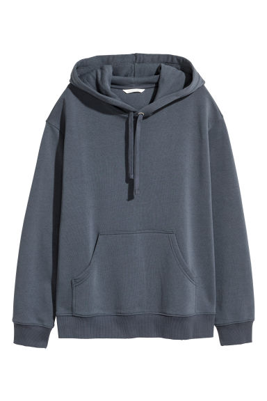 Sweat-shirt à capuche - Bleu grisé -  | H&M BE