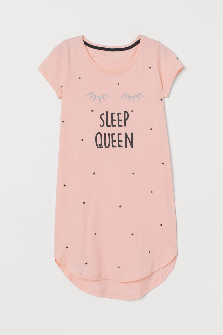 Camisón de jersey - Rosa claro/Sleep Queen - Kids | H&M MX