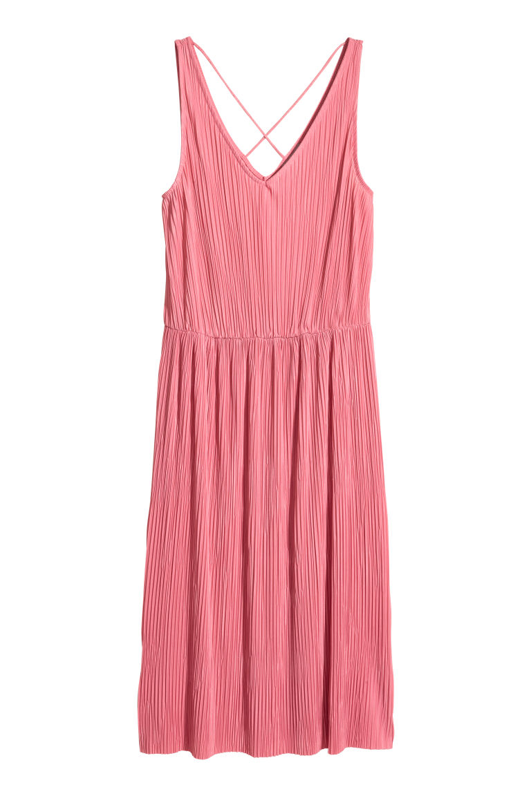 Pleated dress - Pink - Ladies | H&M CN