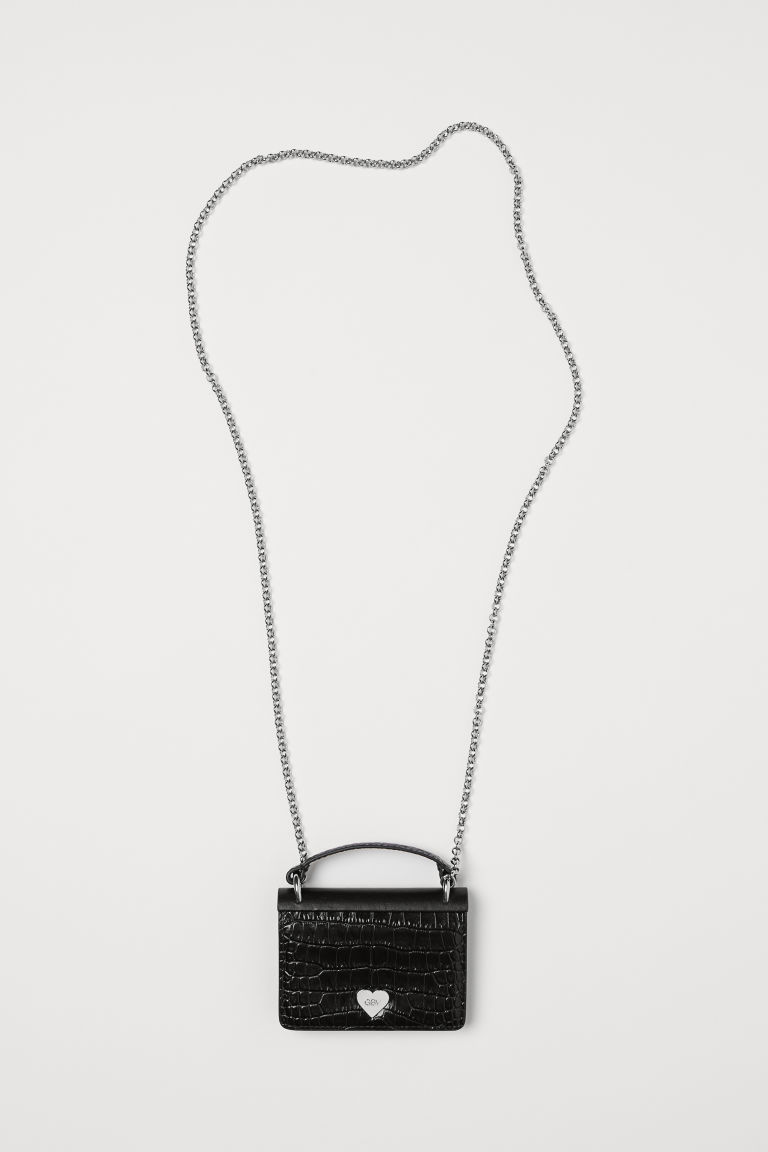 Leather mini bag - Black - Ladies | H&M