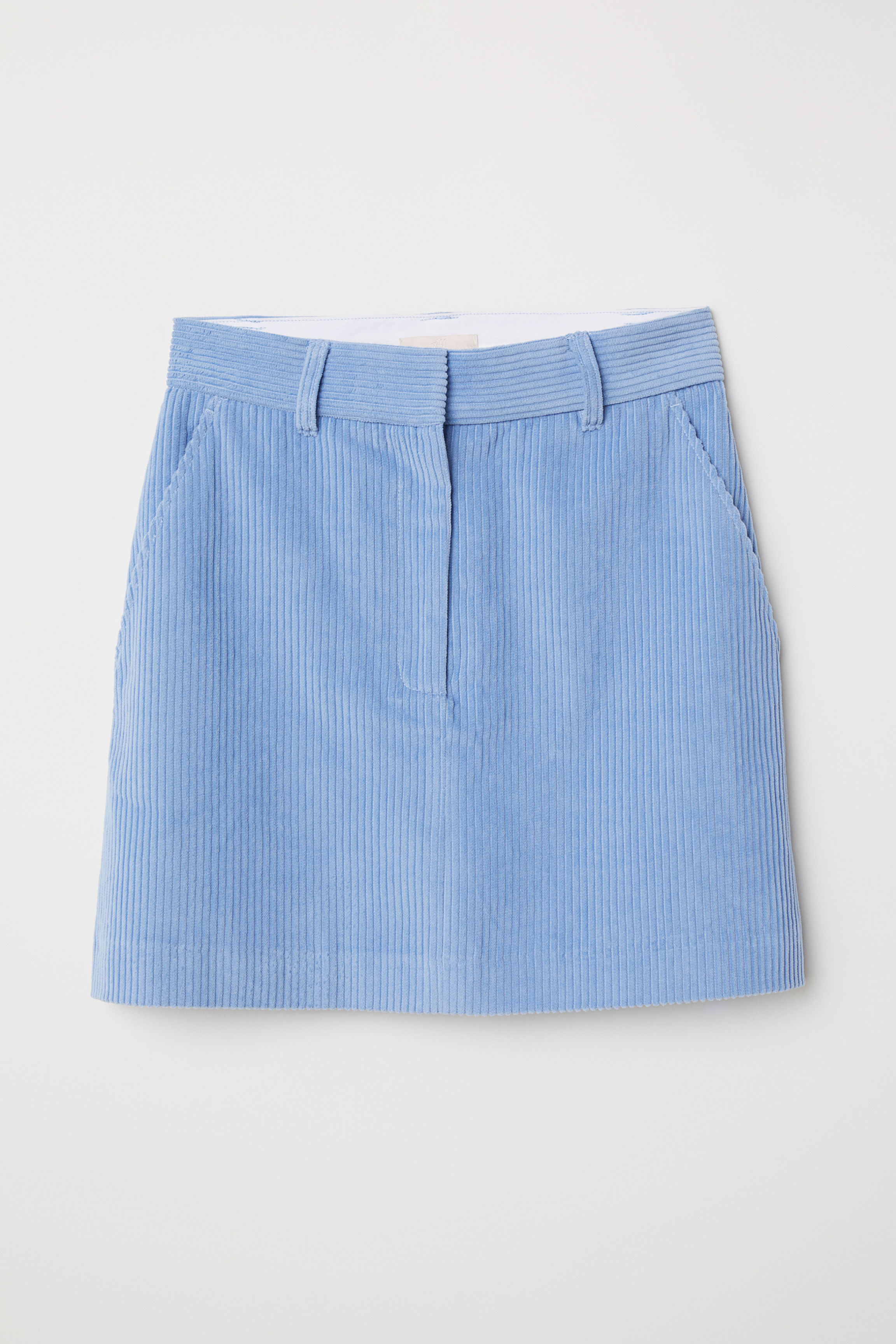 e202724b1 Short corduroy skirt - Light blue - Ladies | H&M GB