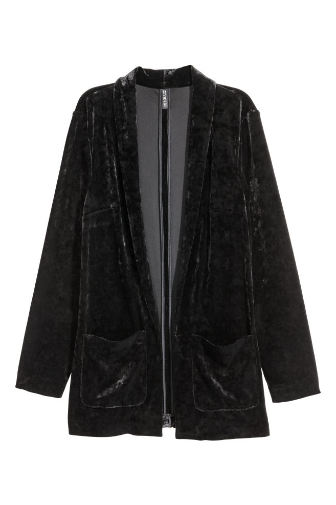 74525f3b60df Crushed velvet jacket - Black - | H&M ...