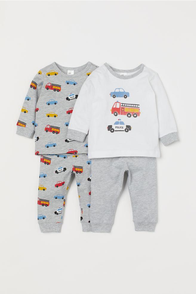 7baccc86c9 Pack de 2 pijamas - Gris claro jaspeado Coches - NIÑOS