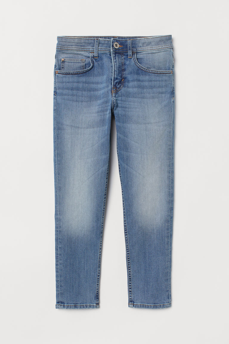 Relaxed Tapered Fit Jeans - Denim blue - Kids | H&M CN