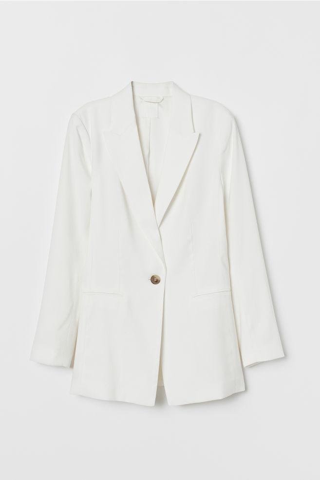 034206b4 ... Enkeltspent blazer - Cream - DAME | H&M ...