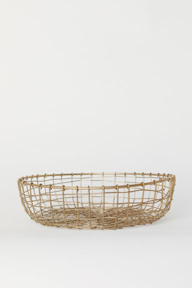 Metal wire basket - Gold-coloured - Home All | H&M GB