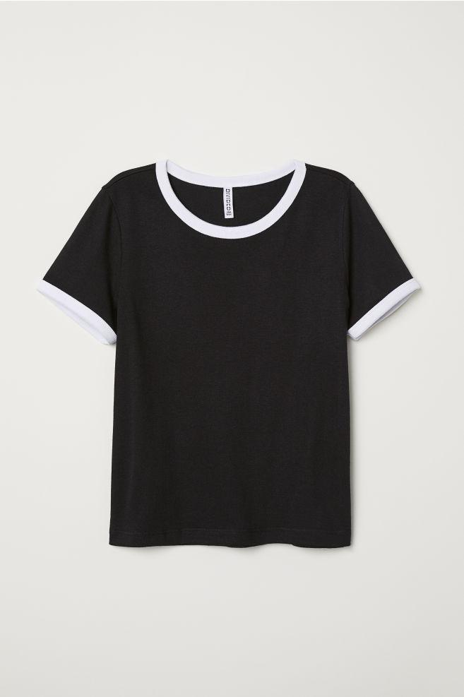 b65074d27eac21 Short T-shirt - Black -