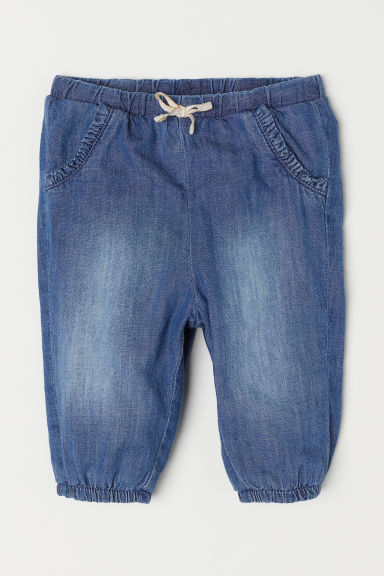 Lined pull-on trousers - Denim blue - Kids | H&M