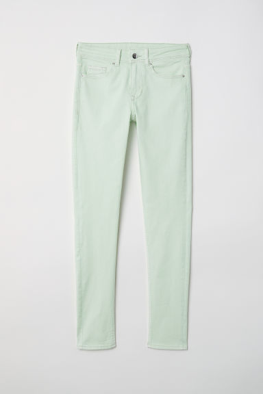 Super Skinny Regular Jeans - Light green -  | H&M