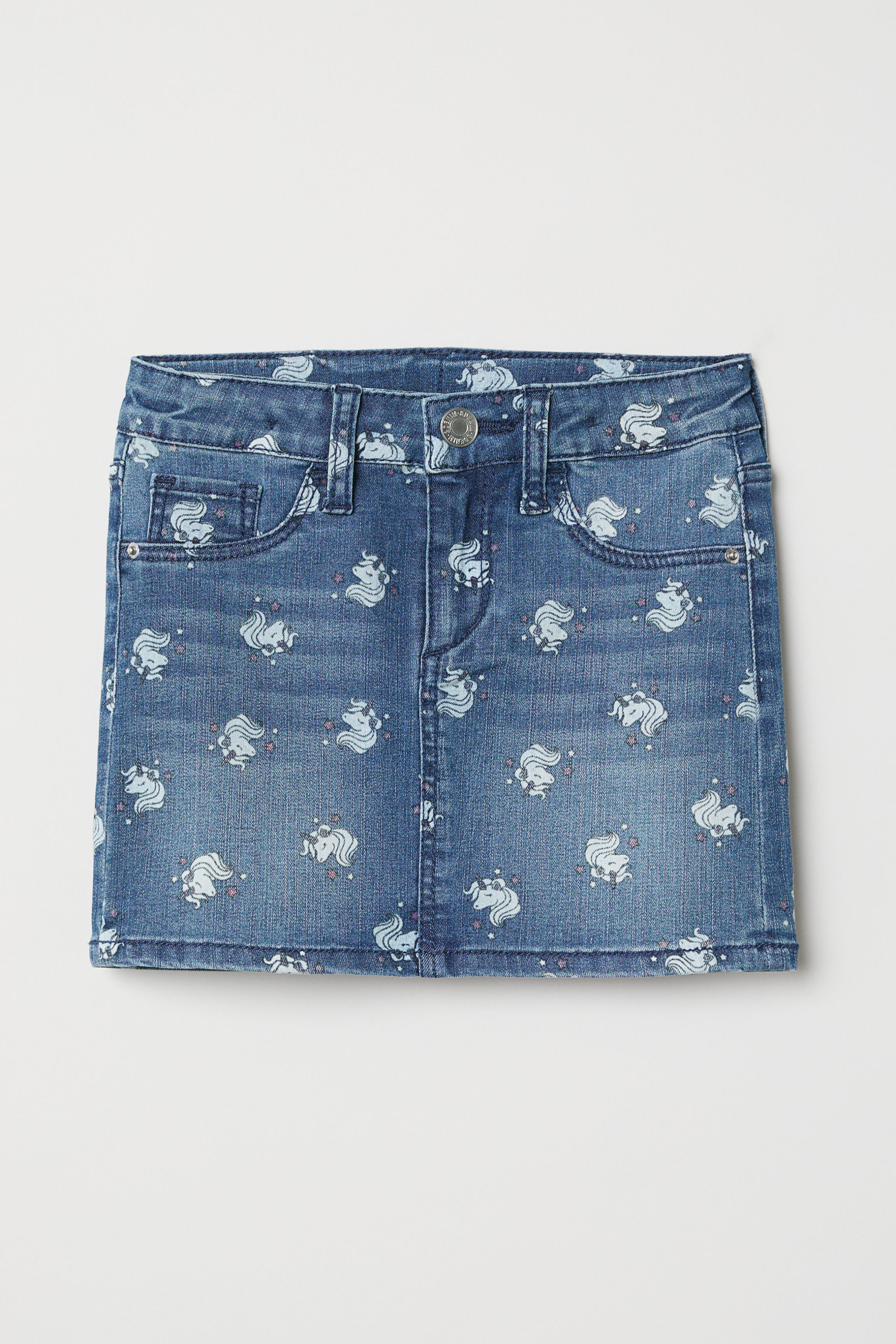 66d26943d9 Stretch Waistband Denim Skirt