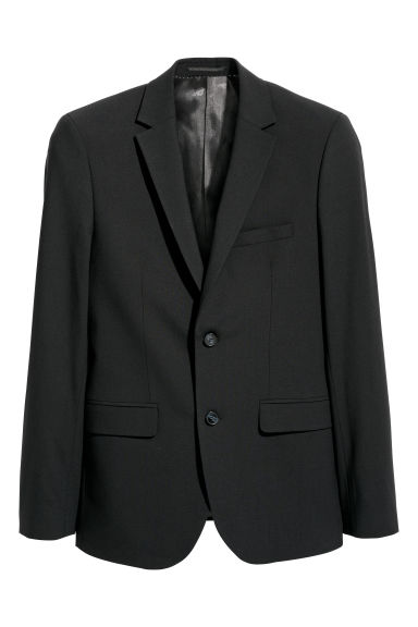 Wollen blazer - Slim fit - Zwart - HEREN | H&M BE