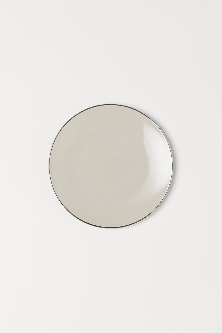 Porcelain plate - Beige - Home All | H&M GB