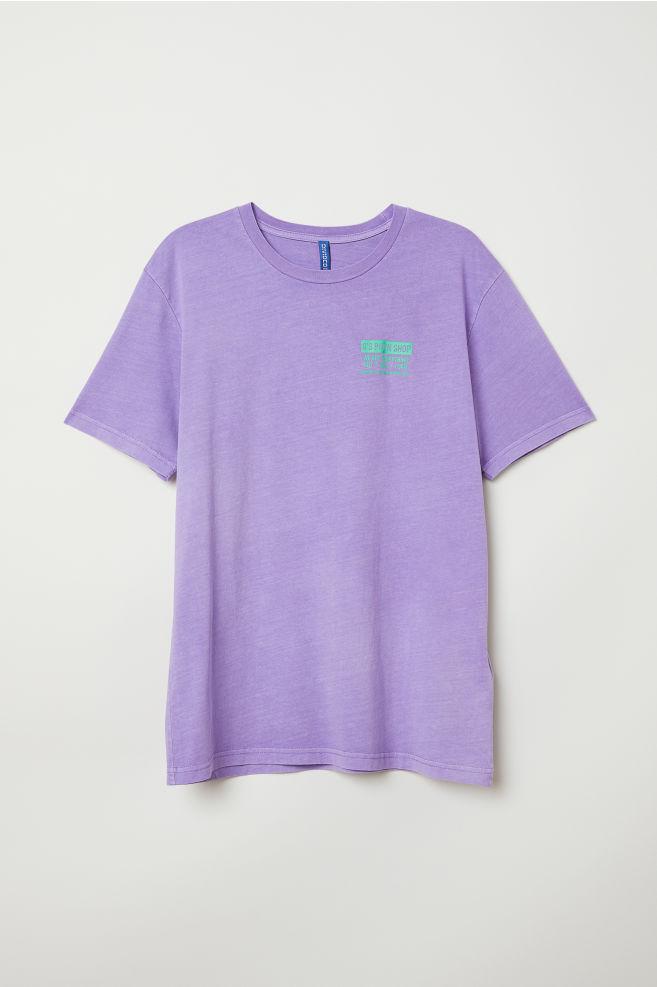 d2775603d2b6a T-shirt with Printed Design - Light purple Pawn shop - Men