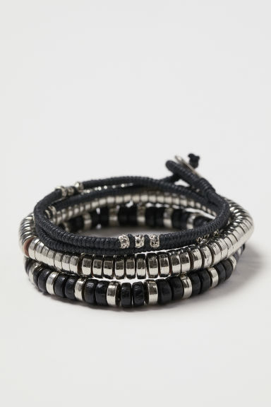 3-pack bracelets - Black - Men | H&M