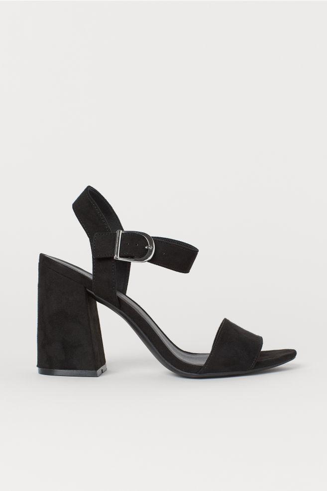 6de1c9815 Block-heeled sandals - Black - | H&M ...