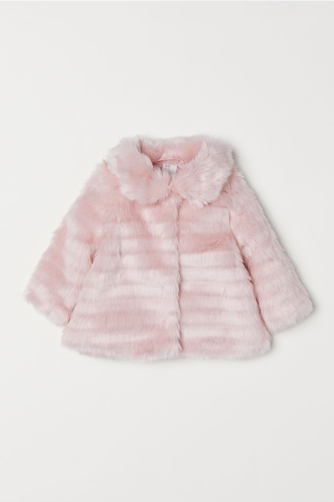d660ae5e63c6f Faux fur jacket - Light pink - Kids