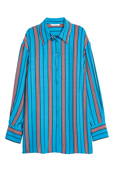 Striped shirt - Light blue/Striped - Ladies | H&M GB