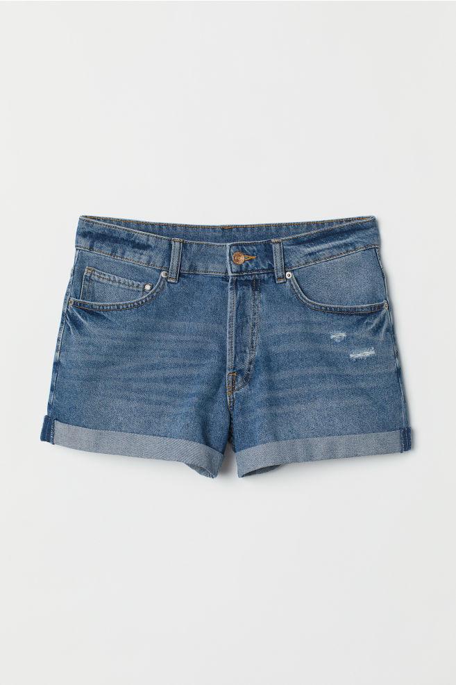 6faade908cd ... Denim Shorts Boyfriend - Denim blue/washed - | H&M ...
