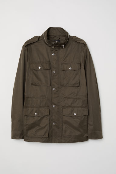 Utility jacket - Dark khaki green -  | H&M
