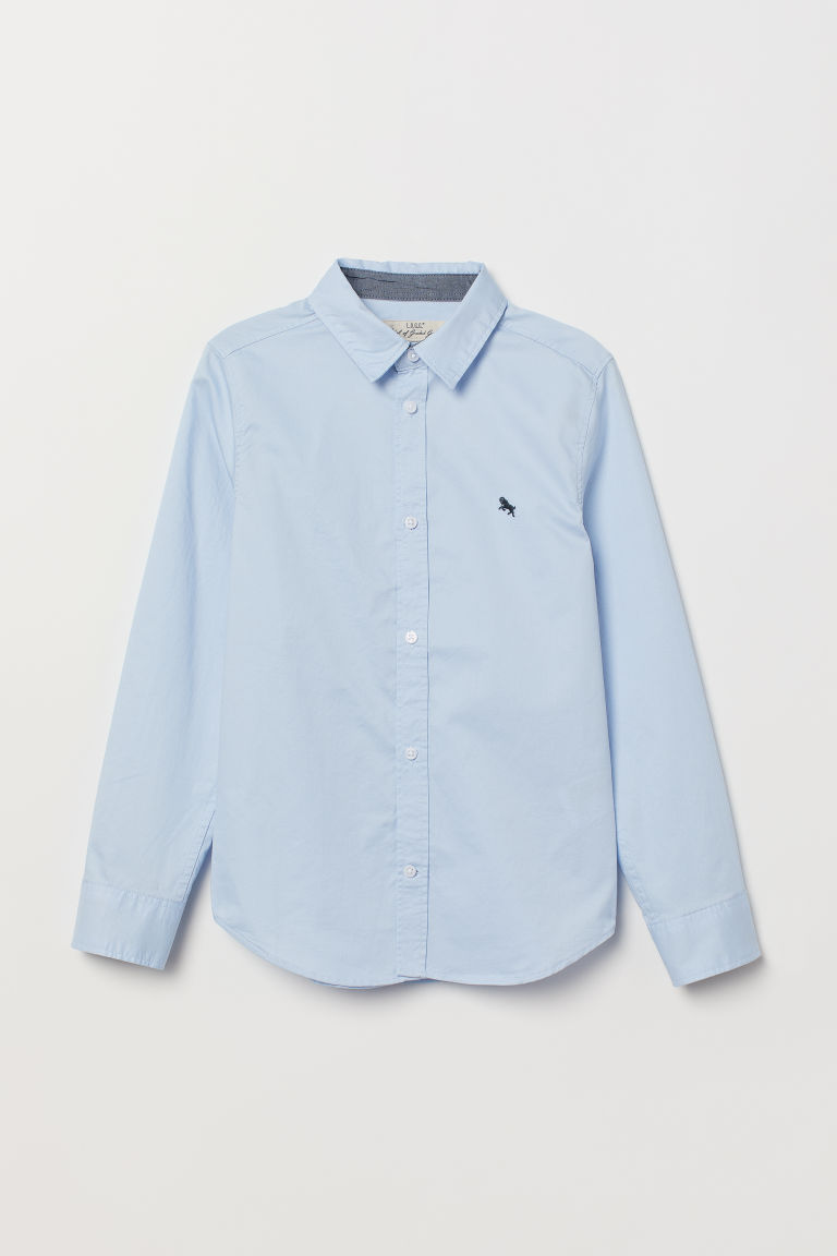 Cotton shirt - Light blue -  | H&M CN