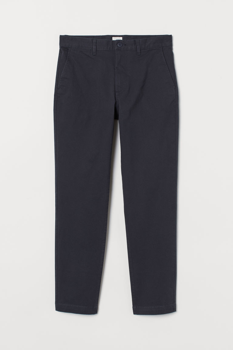Chino Slim Fit Stretch - Bleu marine - HOMME | H&M BE