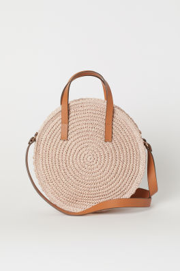 df7cd7897111 Round paper straw handbag
