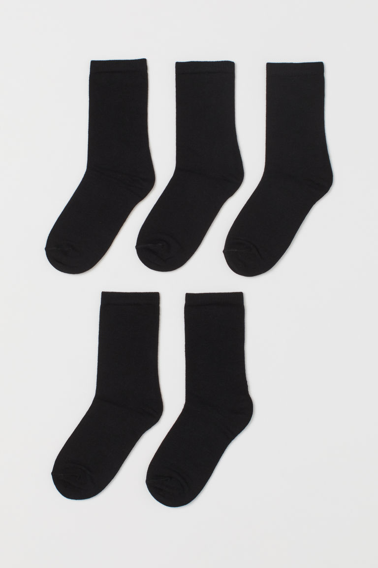 5-pack socks - Black -  | H&M