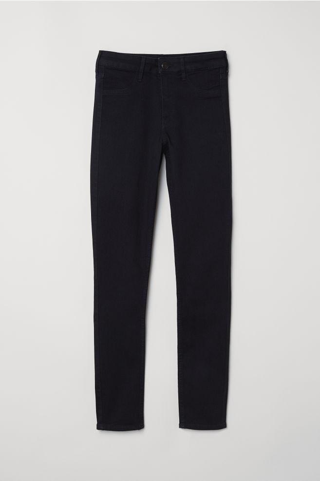 87321f6593da0 Skinny Regular Ankle Jeans - Black denim - Ladies | H&M ...