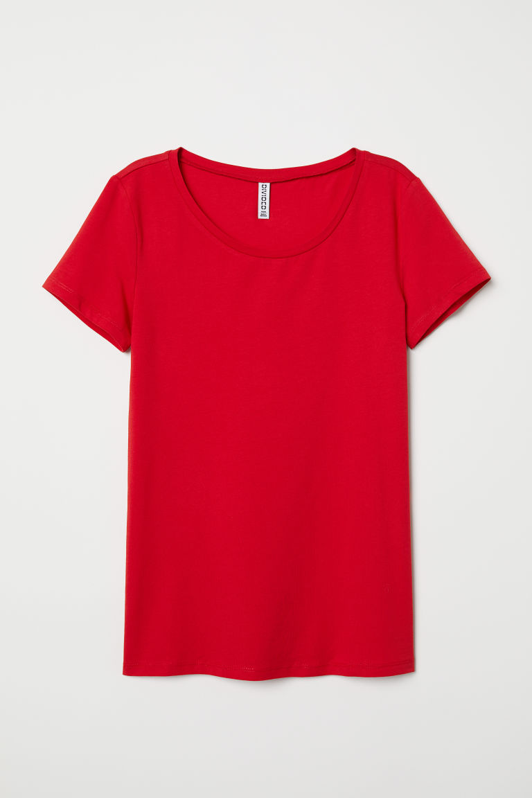 T-shirt - Red - Ladies | H&M CN