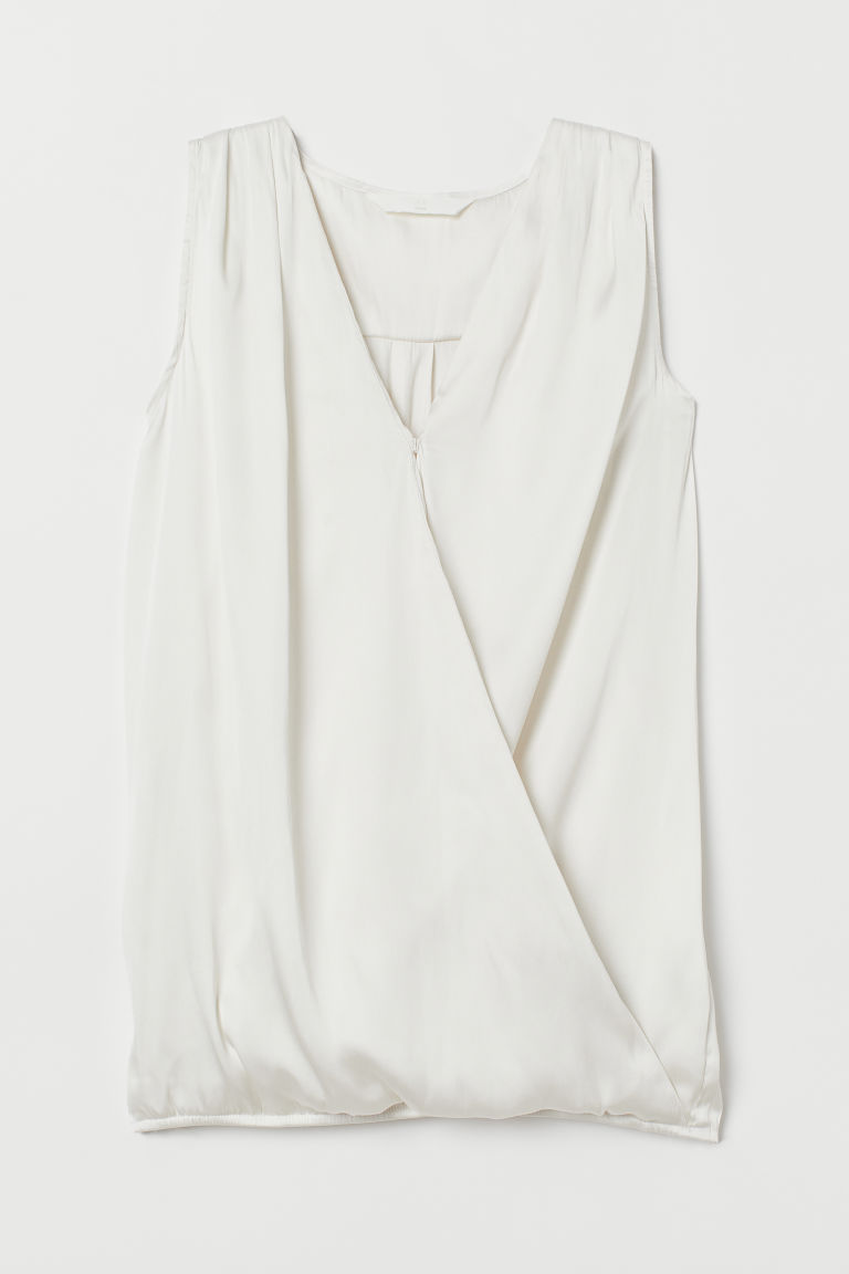 MAMA Nursing blouse - Cream - Ladies | H&M