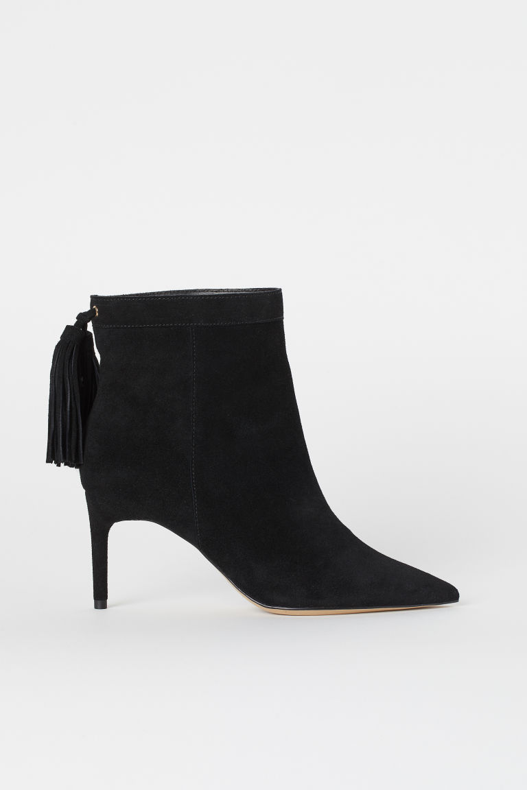 Suede Ankle Boots - Black - Ladies | H&M CA