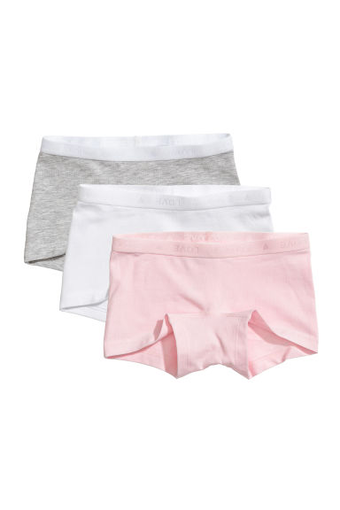 3-pack boxer briefs - Light grey/Light pink - Kids | H&M