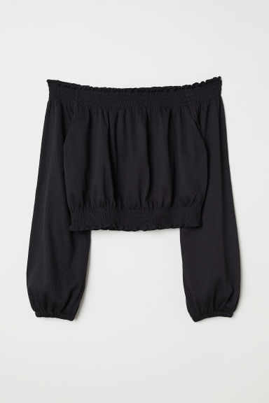 Top a spalle scoperte - Nero - DONNA | H&M IT