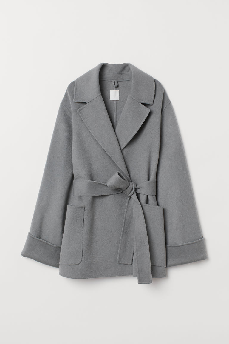 Cashmere-blend coat - Grey - Ladies | H&M CN