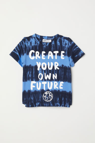 Printed T-shirt - Blue/Batik pattern - Kids | H&M