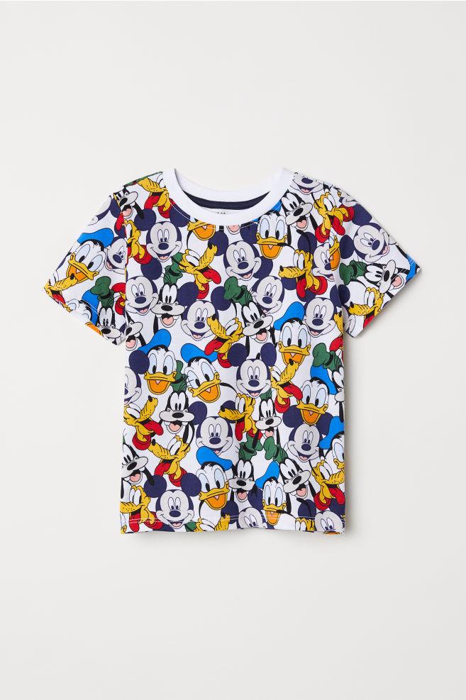 3df91058 T-shirt with Printed Design - White/Disney - Kids | H&M ...