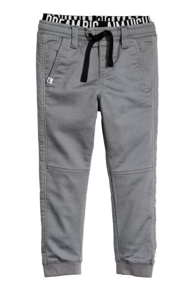 Twill pull-on trousers - Grey - Kids | H&M