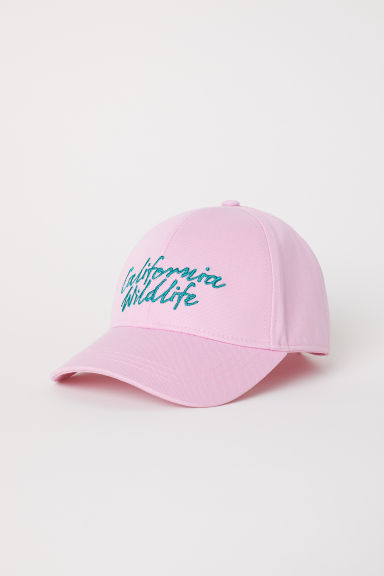 Cotton cap - Light pink/California Wildlife - Ladies | H&M CN