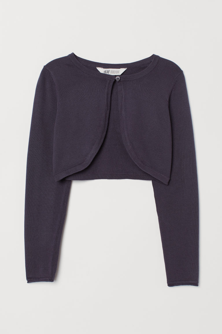 Cotton bolero - Dark blue - Kids | H&M