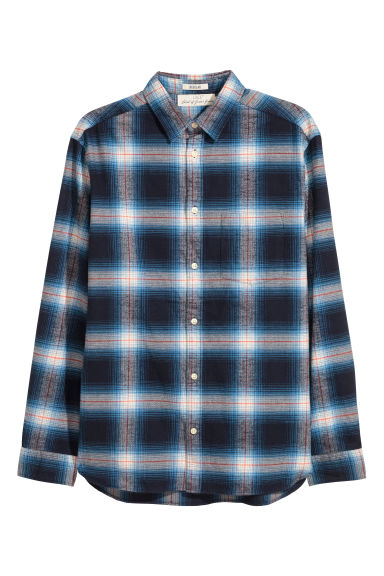 Flannel shirt Regular fit - Blue/Checked - Men | H&M