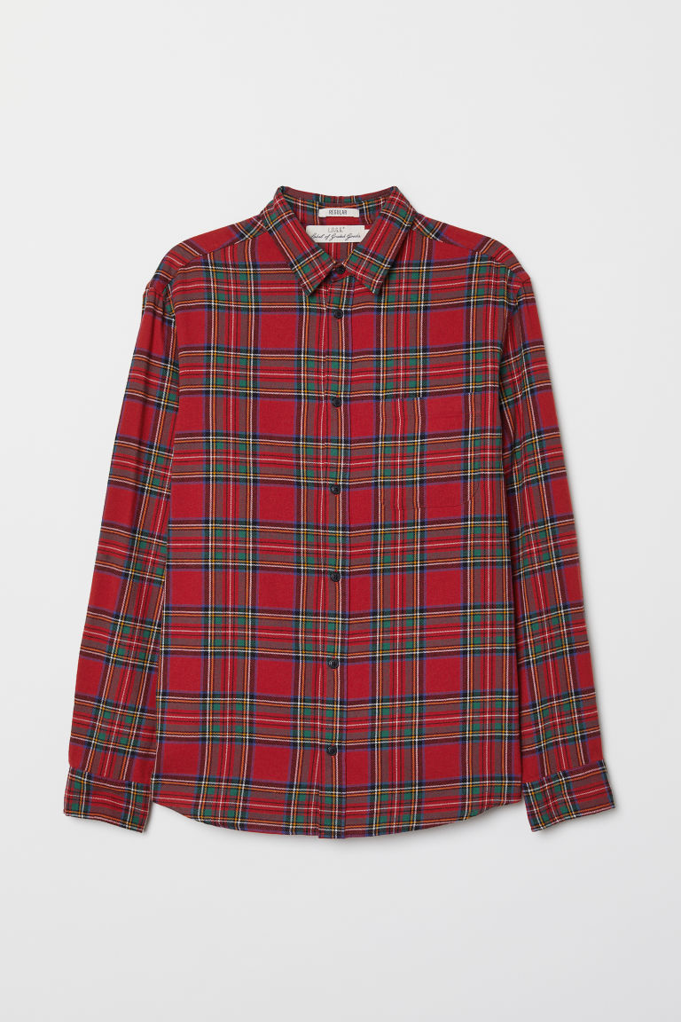 Flannel shirt - Red/Checked - Men | H&M