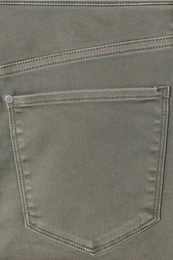 8dfc45fcf5e67 Super Skinny High Jeggings - Khaki green - | H&M ...
