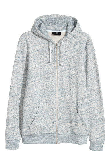 Sweat à capuche Regular fit - Bleu clair chiné - HOMME | H&M CH
