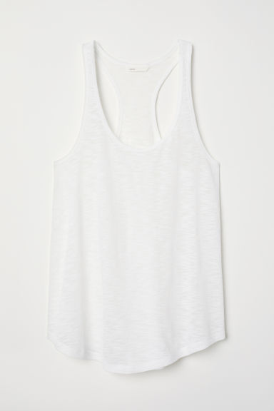 Tricot singlet - Wit - DAMES | H&M BE