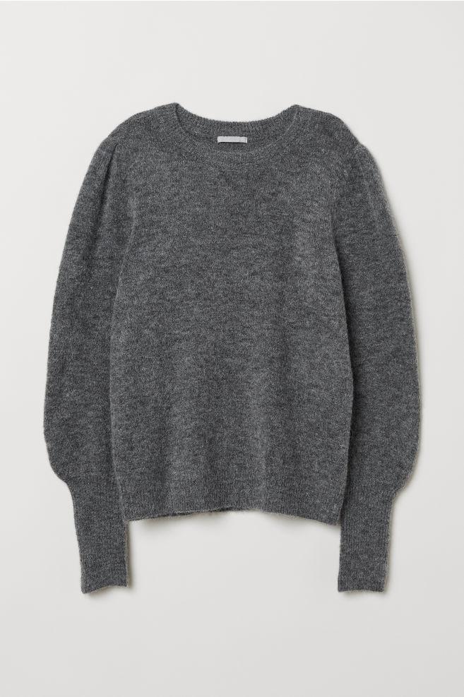 e70674ab5e Kötött gyapjúkeverék pulóver - Szürke melír - NŐI | H&M ...