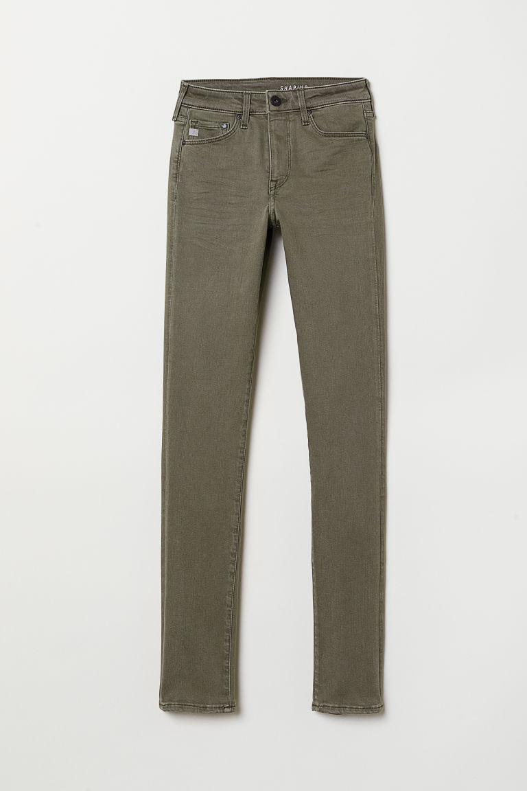 Shaping Skinny Regular Jeans - Khaki green -  | H&M CN