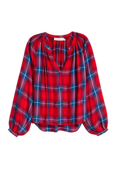 Wide blouse - Red -  | H&M GB