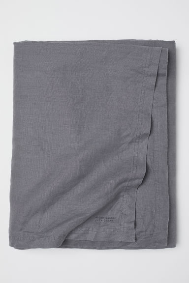 Washed linen tablecloth - Dark grey - Home All | H&M IE